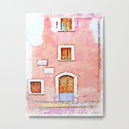 Camerata Nuova: door and windows on the pink wall Metal Print