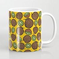kiwi Mugs featuring Kiwi by Nemki