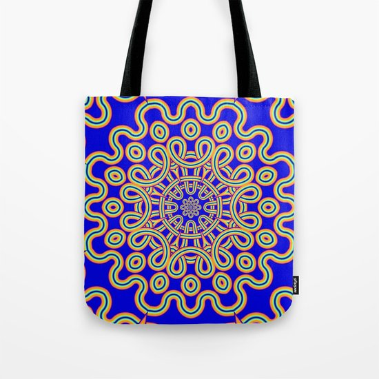 The Colourful Curly Mandala Tote Bag