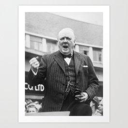 Winston Churchill Campaigning - 1945 Art Print
