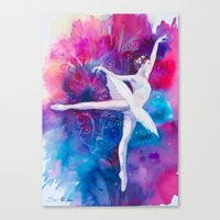 ballerina Canvas Prints featuring Ballerina by Slaveika Aladjova