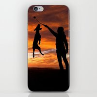 workout iPhone & iPod Skins featuring Sunset Workout by Sandy Broenimann