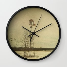 While the wind moans a dirge to a coyote's cry... Wall Clock