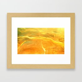 Golden Desert Framed Art Print
