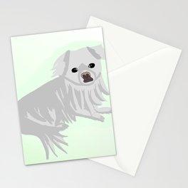White Pekingese Stationery Cards