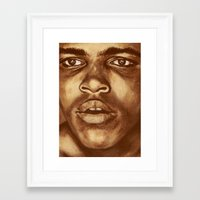 ali Framed Art Prints featuring ALI by noblackcolor