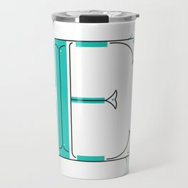 Drop Cap E - decorative letter - typography - monogram - capital Travel Mug