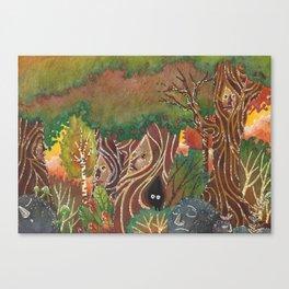 sylvan forest Canvas Print