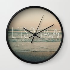 Let's Run Away by Laura Ruth and Leah Flores  Wall Clock
