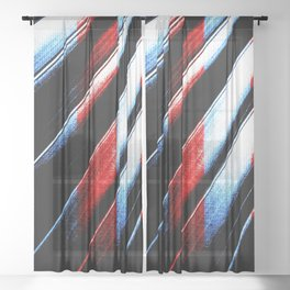 Patriotic Red White And Blue #society6 #colors Sheer Curtain