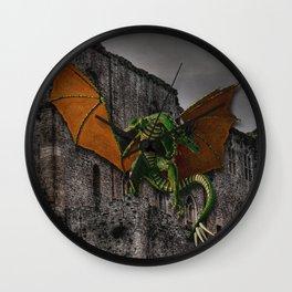 Dragon & Castle Artwork Wall Clock