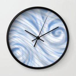 Blue Stripe on Blue Swirl Wall Clock