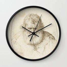 Jacob de Gheyn II - Portret van een oude man Wall Clock