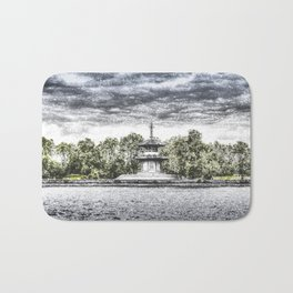 The Pagoda in the snow Bath Mat