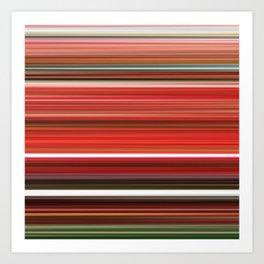 Azaleas - Striped Art Print