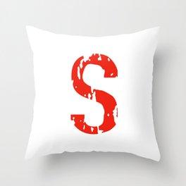 Jughead's S shirt (Riverdale) red Throw Pillow