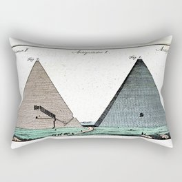 Pyramids and Floating (Suspended) Gardens of Babylon Rectangular Pillow