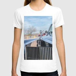 Vintage Car // Rolls Blue Paint Hood Ornament Silver Grille Classic T-shirt