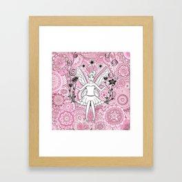Beautiful fairy on swing Framed Art Print