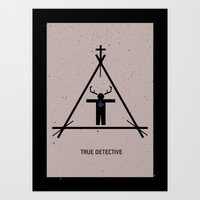 true detective Art Prints featuring True Detective by Deep Search