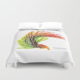 Tillandsia Funckiana Air Plant Watercolors Duvet Cover