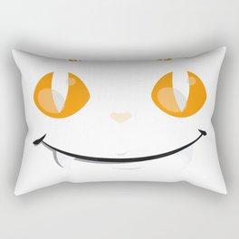 Funny Trick or Treat Halloween Fang-Tastic Cat Lover T-Shirt Rectangular Pillow