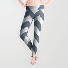 Slate gray - grey color - Zigzag Chevron Pattern Leggings