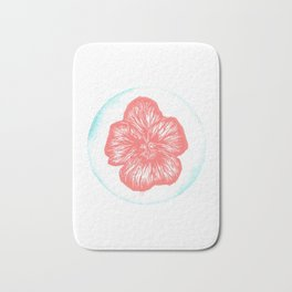 Violet Birth Flower - February - Coral Bath Mat