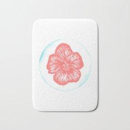Violet Birth Flower - February - Coral Bath Mat