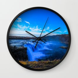 Waterfall. Wall Clock