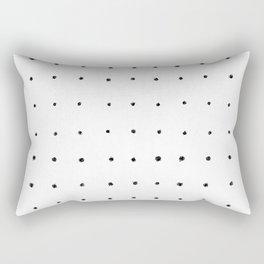 Dot Grid Black and White Rectangular Pillow