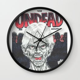 The Undead Are Hungry Wall Clock