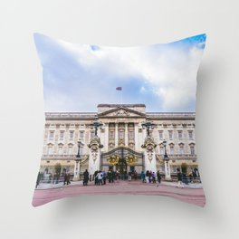 Buckingham Palace, London, England Throw Pillow