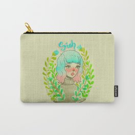Sigh. by Ane Teruel.  Carry-All Pouch