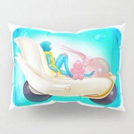 Time Bunny Girl and Art Robo Pillow Sham