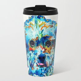 Colorful Dog Art - Lhasa Love - By Sharon Cummings Travel Mug