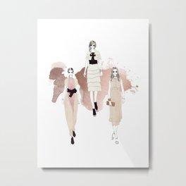 Fashionary 3 Metal Print