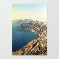 The insane roads of Santorini Canvas Print