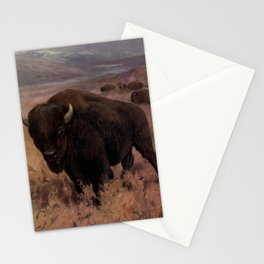 Vintage American Buffalo Painting (1909) Stationery Cards