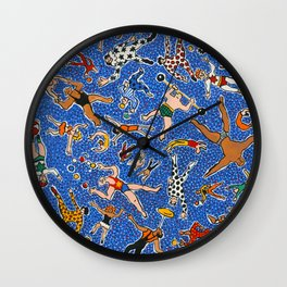 Circus Performers by Nettie Heron-Middleton Wall Clock
