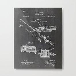 Fishing Patent Poster Drawing Metal Print