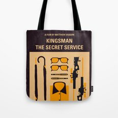 No758 My Kingsman minimal movie poster Tote Bag