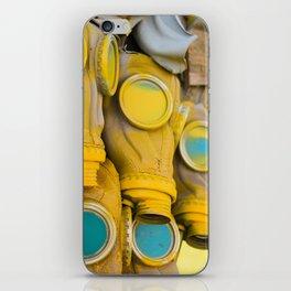 Yellow gas mask iPhone Skin