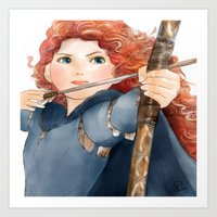 merida Art Prints featuring Merida  by Teddy Wade