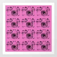 cameras Art Prints featuring Cameras by Lara Brambilla
