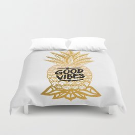 Good Vibes Ananas Duvet Cover