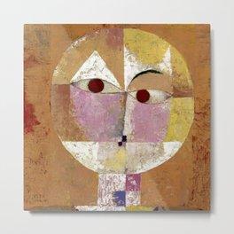 Senecio (Baldgreis) by Paul Klee Metal Print