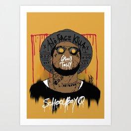 Schoolboy Q Art Print