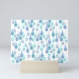 Happy Rain 2 Mini Art Print