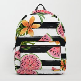 Watermelon black stripes Backpack